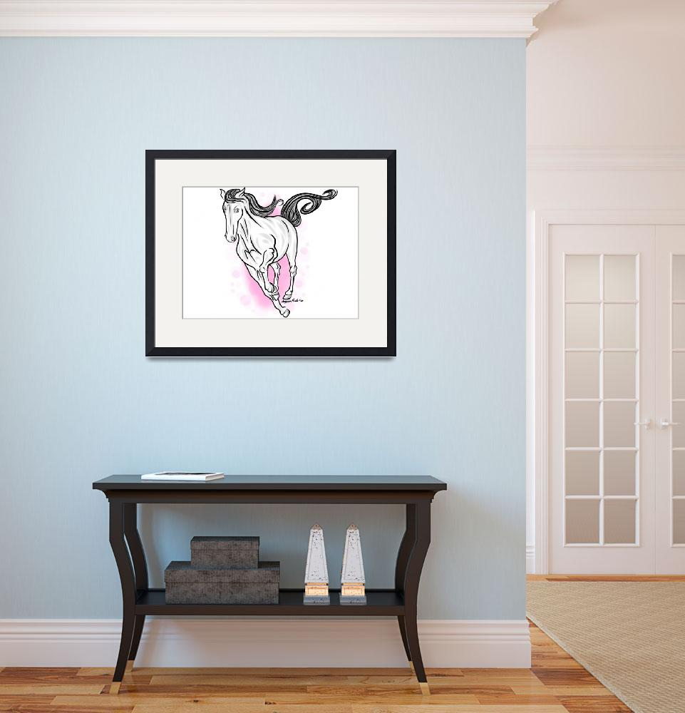 """""""1-29-14 Running Horse Finished""""  (2014) by artinthegarage"""