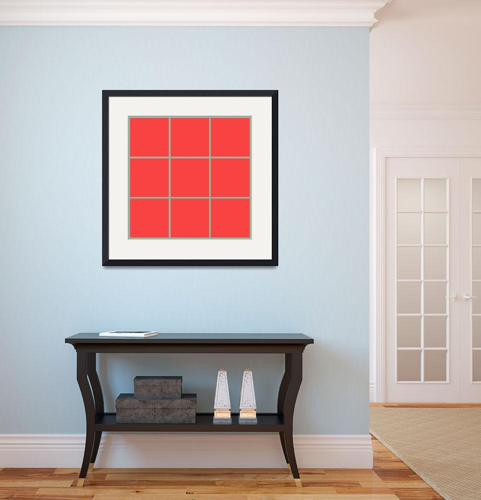 """""""Red Window 129 Canvas Contemporary Modern&quot  (2010) by Ricardos"""