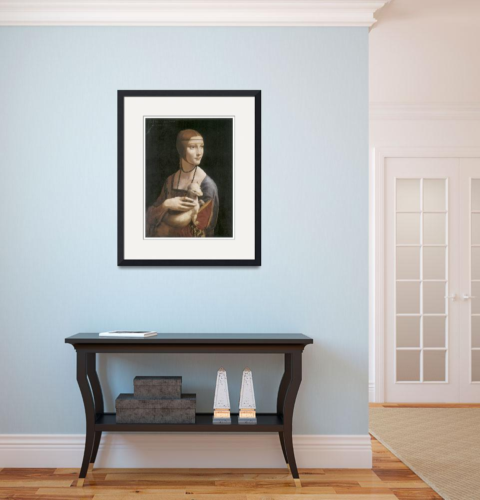 """""""The Lady with an Ermine by Leonardo Da Vinci&quot  by ArtLoversOnline"""