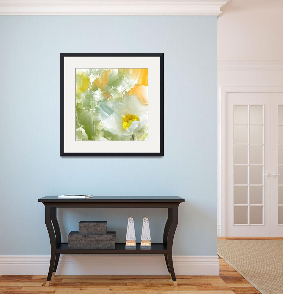"""""""white flower painting&quot  (2014) by Wemmje"""