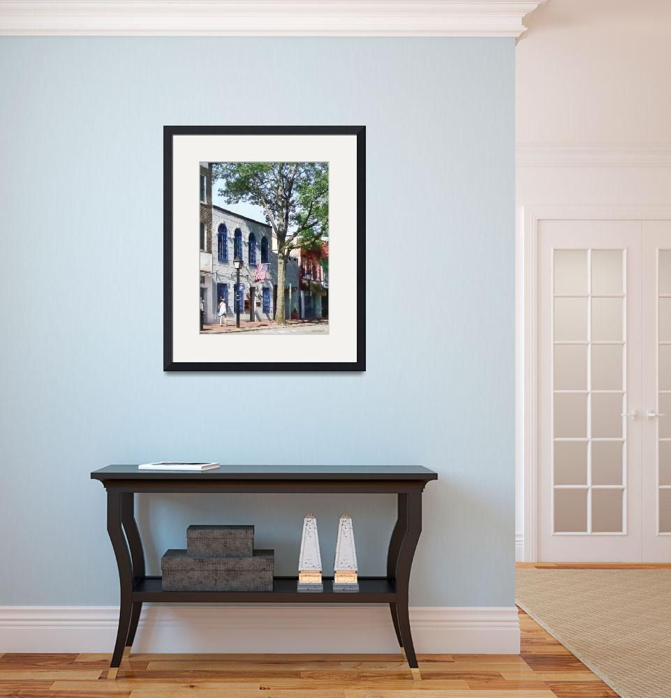 """Alexandria VA - Street With American Flag""  by susansartgallery"