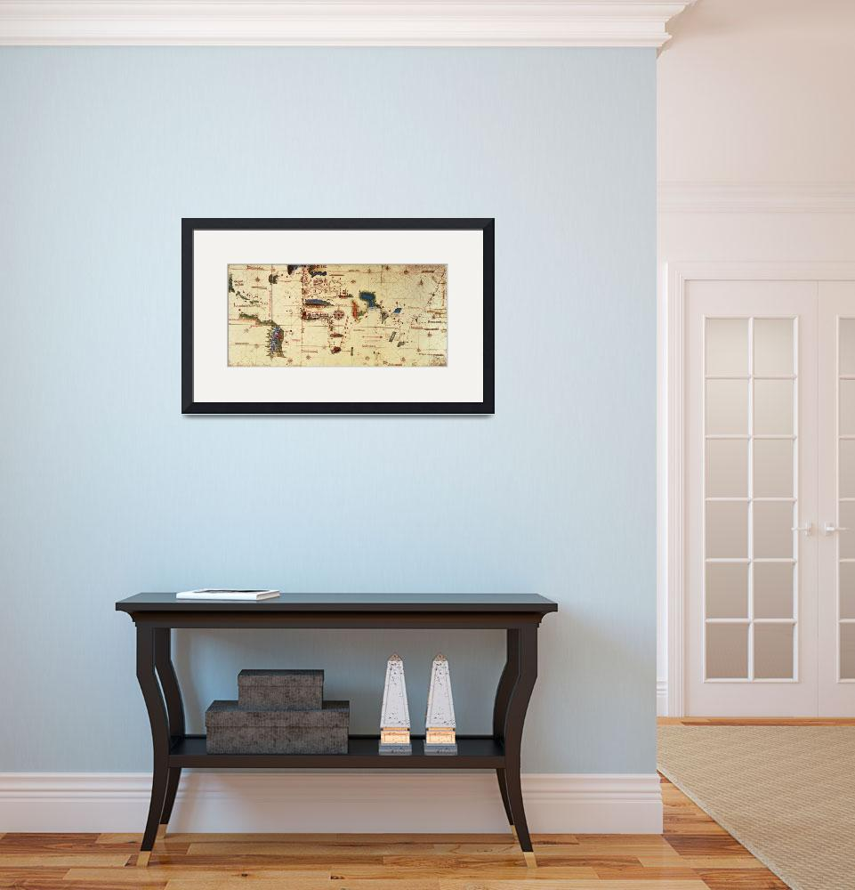 """""""Copy of Monumenta Cartographia, 1502 colour litho&quot  by fineartmasters"""