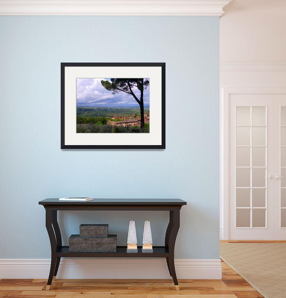 """""""View from San Gimignano 3&quot  (2008) by gbensonart"""