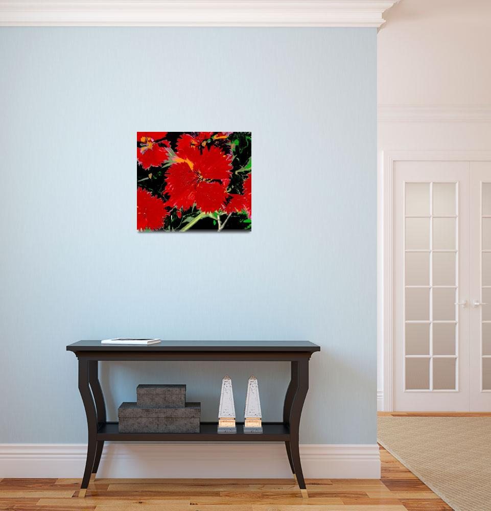 """""""red flower floral""""  by shanmaree"""