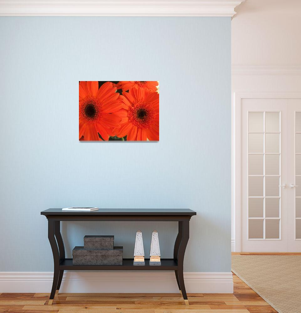 """""""orange daisies&quot  (2008) by LauriesCreations"""