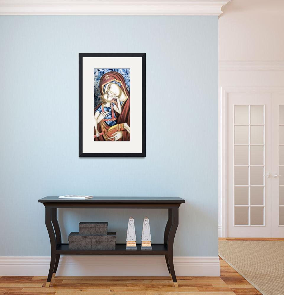 """""""Madonna & Child Icon&quot  (2012) by leapdaybride"""