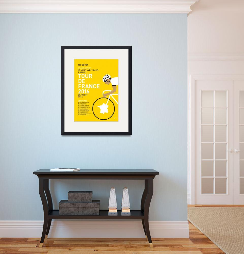 """""""MY TOUR DE FRANCE MINIMAL POSTER 2016&quot  by Chungkong"""