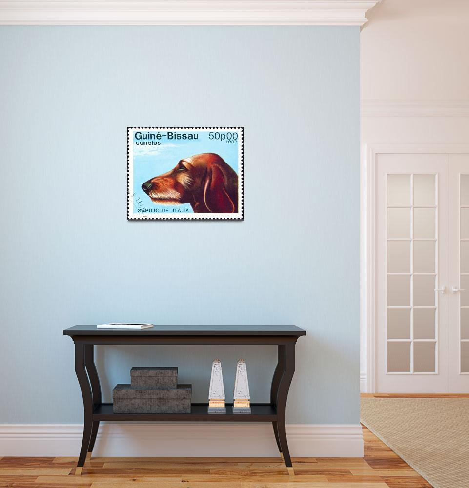 """""""Sabujo dog stamp.""""  by FernandoBarozza"""