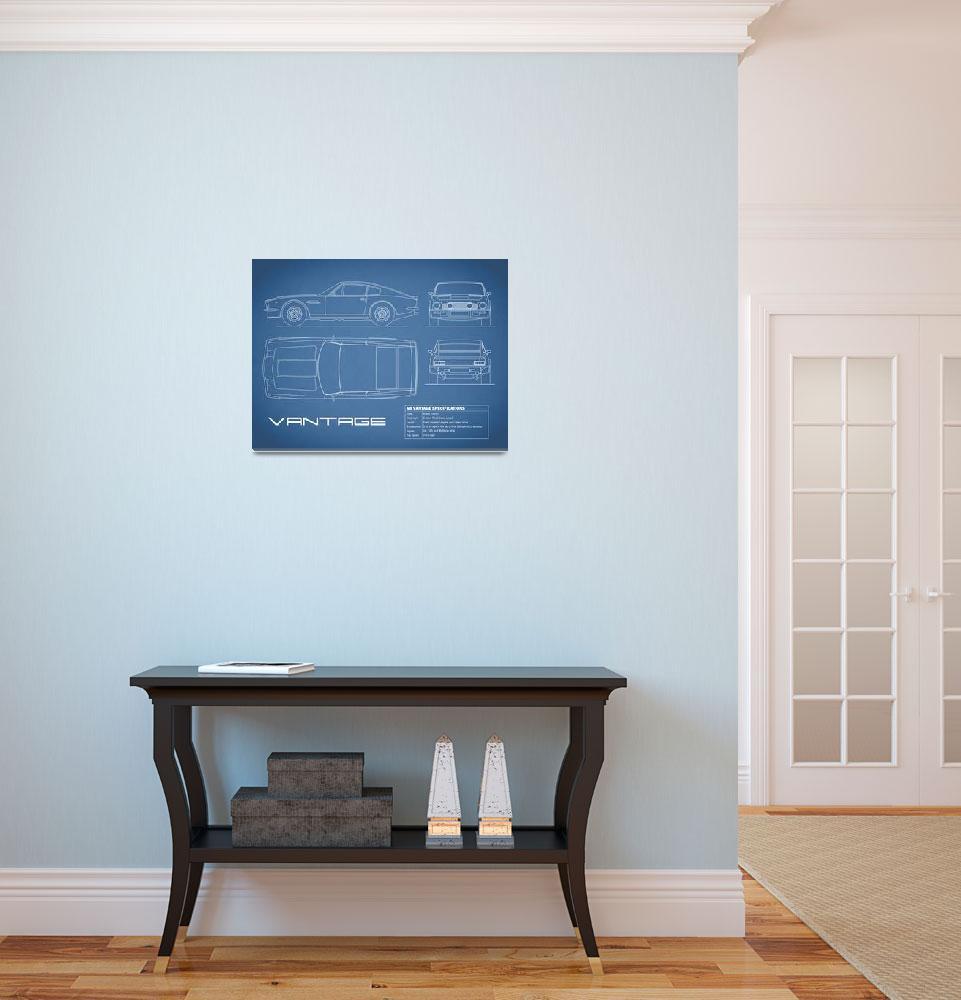 """Aston V8 Vantage Blueprint""  (2015) by mark-rogan"