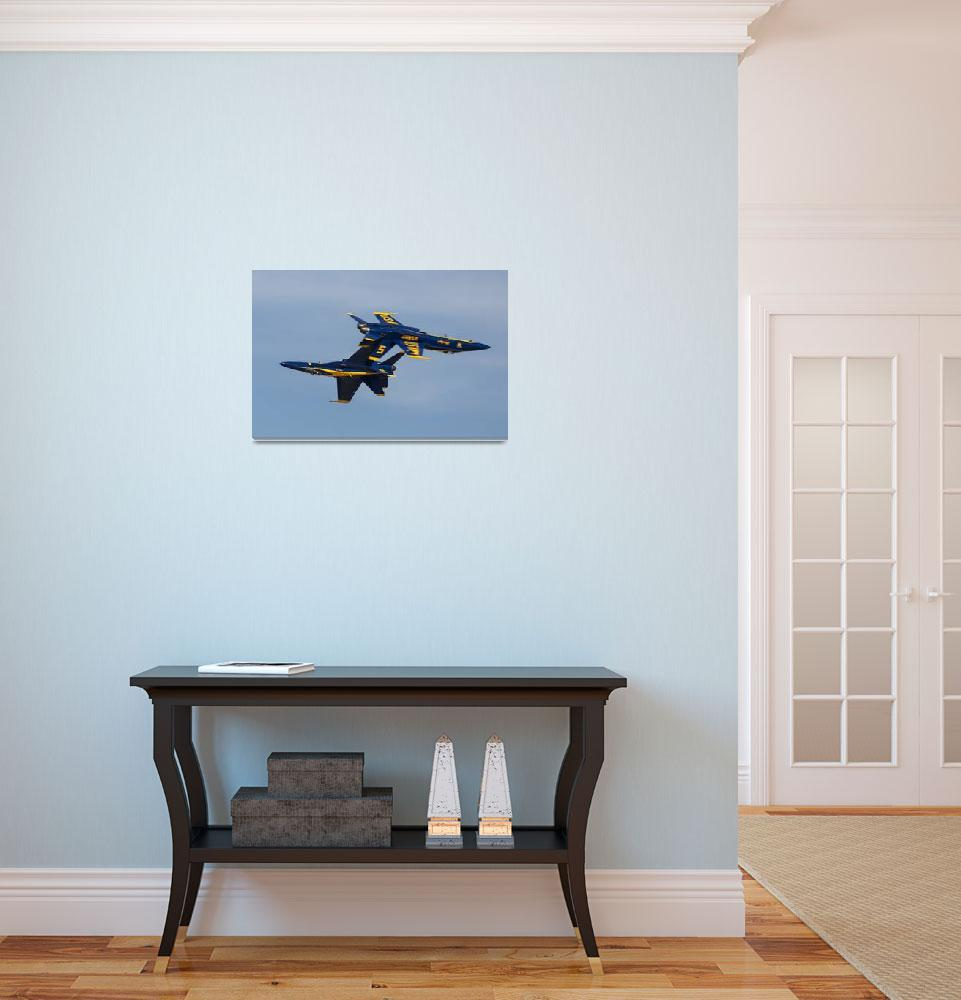 """""""Blue Angels Solos Crossing&quot  by JohnDaly"""