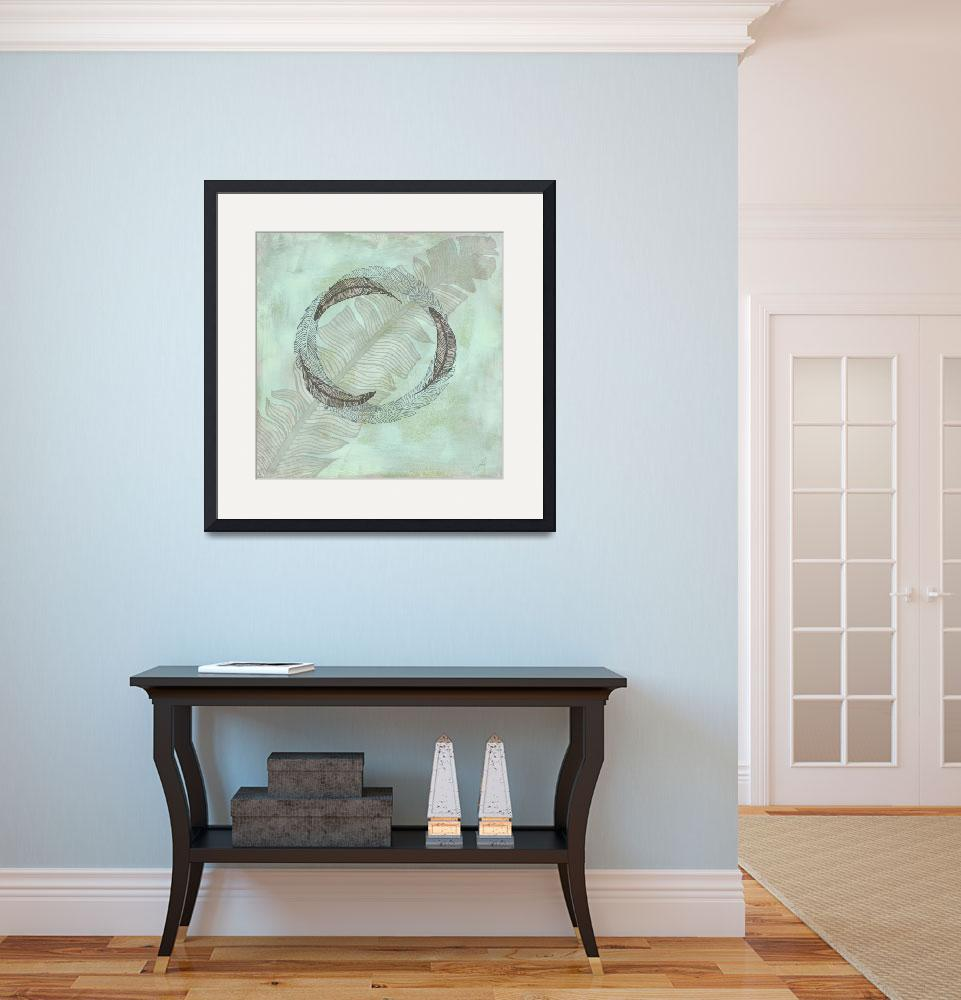 """""""Zen Feather Circle II&quot  by WrightFineArt"""