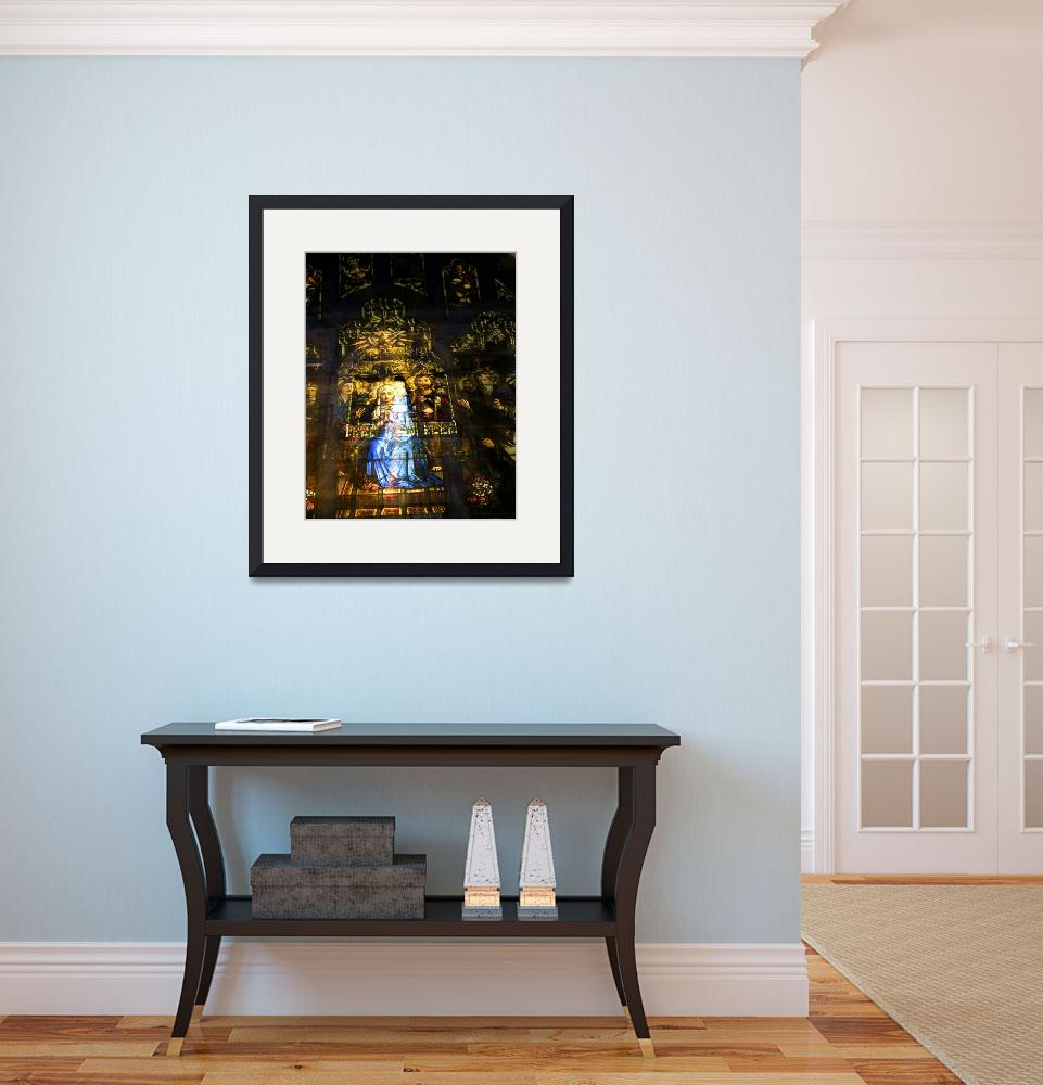 """""""Mary Receiving the Holy Sprit&quot  (2008) by LessardArt"""