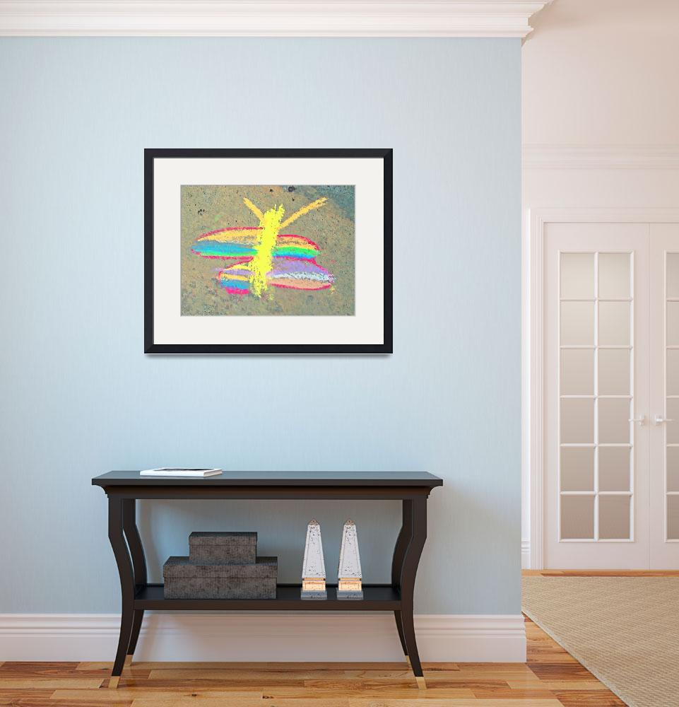 """Autism Creates:  Chalk Butterfly&quot  (2011) by SVPhotoArt"