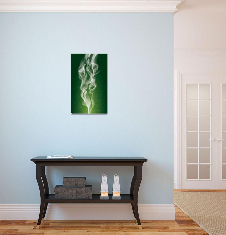 """""""Kiss Above the Emerald Flame""""  (2010) by Art_By_Design_Studio"""