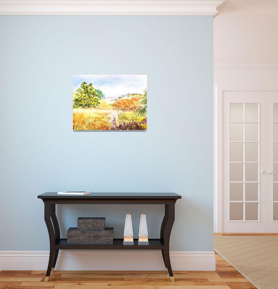 """Gorgeous Fall Landscape""  (2015) by IrinaSztukowski"