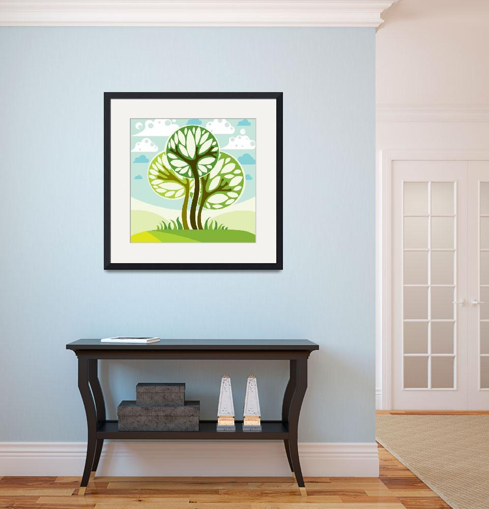 """Color Trees Framed Print&quot  by buddakats1"