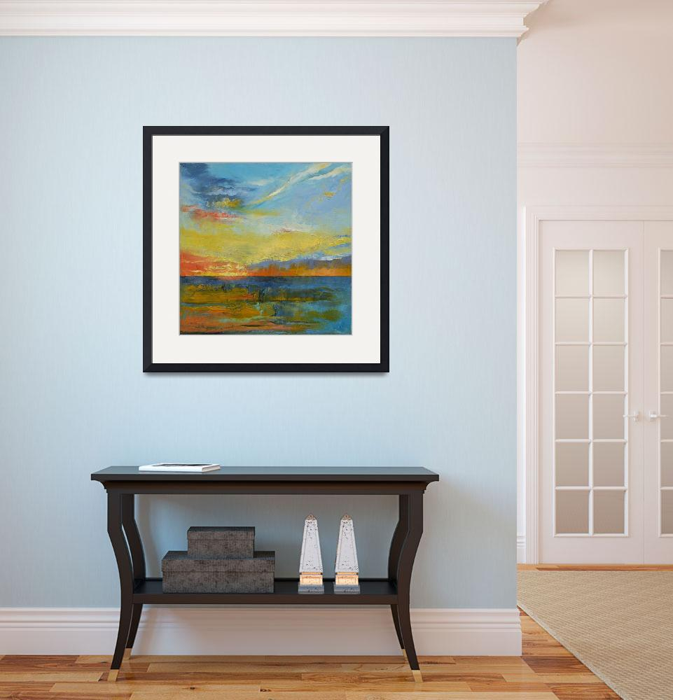 """""""Turquoise Blue Sunset&quot  by creese"""