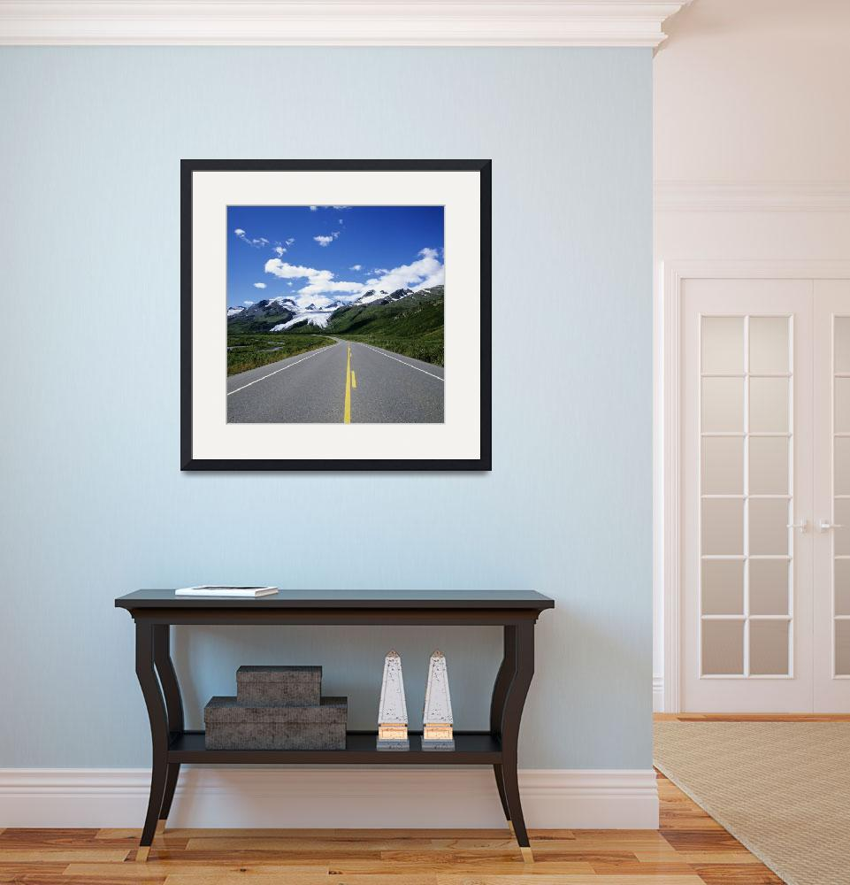 """Alaska, Richardson Highway Leading To Worthington&quot  by DesignPics"