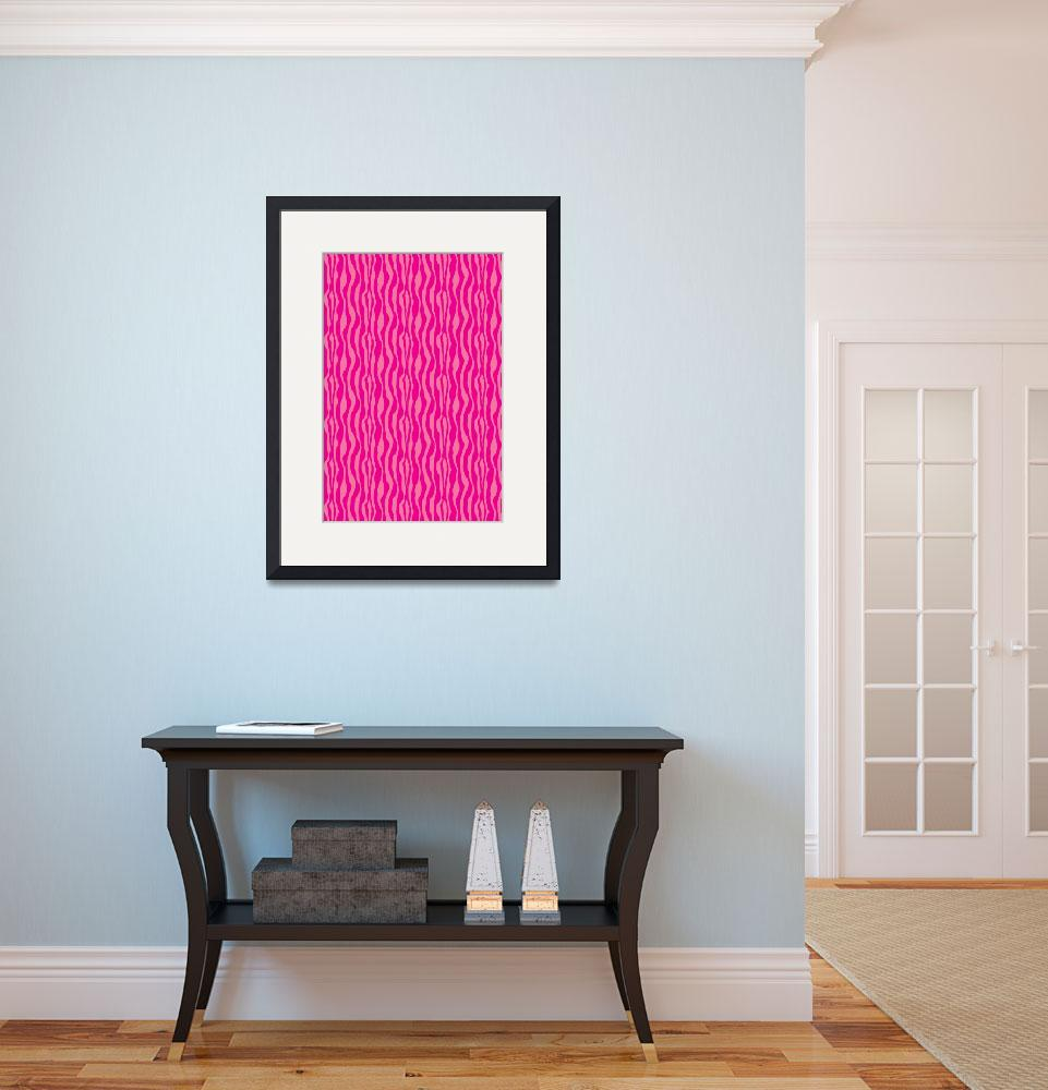 """Pink Zebra Pattern&quot  (2013) by ValeriesGallery"