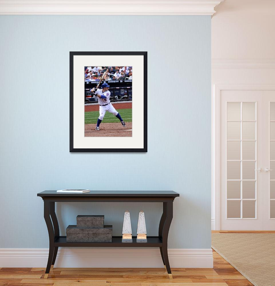 """""""David Wright at the Plate&quot  (2009) by debby19"""