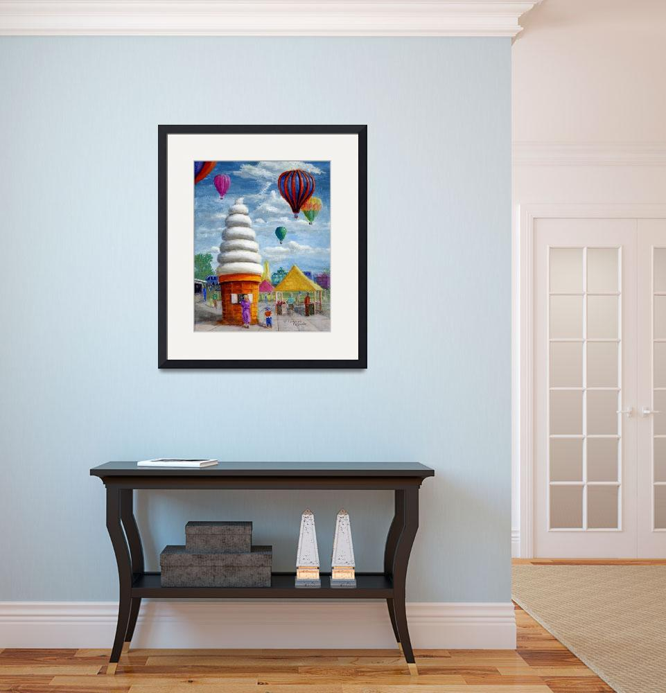 """""""Giant Ice Cream Cone and Balloons&quot  (2006) by Lenora"""
