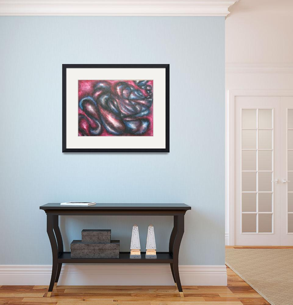 """""""Blue/Red Organized Chaos""""  (2006) by racheloliv"""