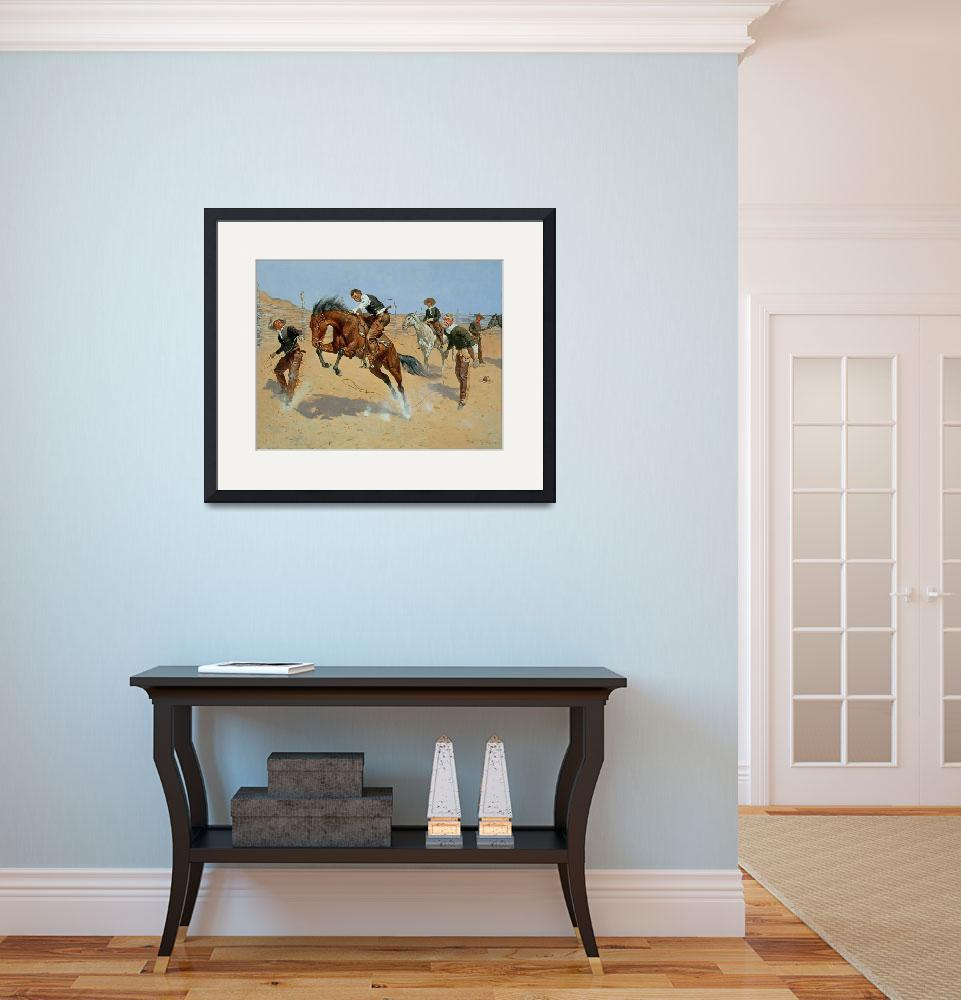 """Turn Him Loose, Bill by Frederic Remington&quot  by fineartmasters"