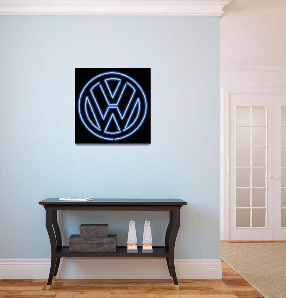 """Volkswagen Neon Sign""  (2018) by palmsrick"
