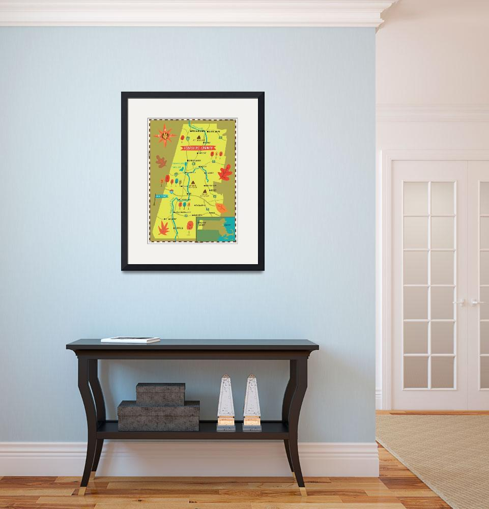 """""""Illustrated Map of the Berkshires by Nate Padavick&quot  by TheyDrawandCook"""