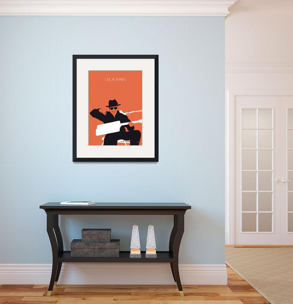 """""""No103 MY Bo Diddley Minimal Music poster&quot  by Chungkong"""