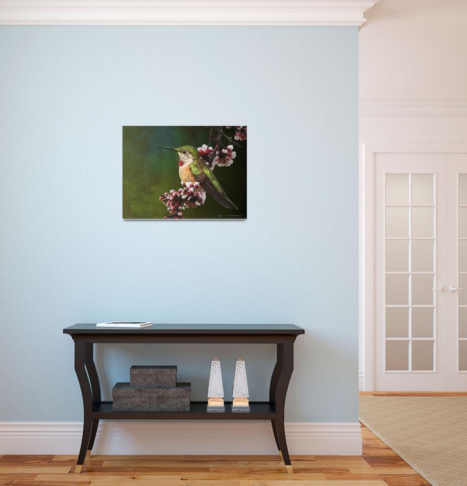 """""""female hummer portrait&quot  (2013) by rchristophervest"""