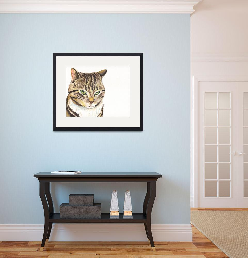 """""""Pickles the Persnickety Protective Blotched Tabby&quot  (2014) by Designomel"""