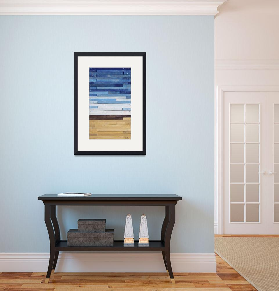 """Reclaimed Wood Abstract Beach&quot  (2012) by LisaKDesigns"