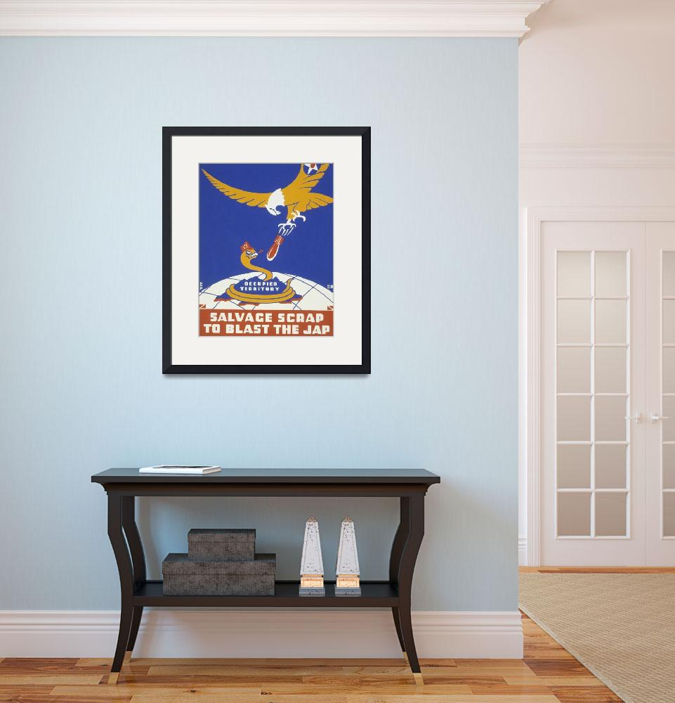 """""""World War II 1939-1945: Anti-Japanese poster spons""""  by fineartmasters"""