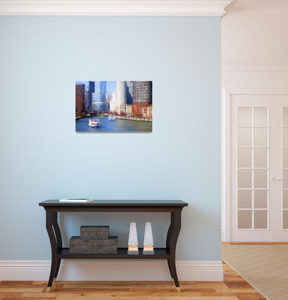 """Chicago River Impression""  (2015) by edbock"