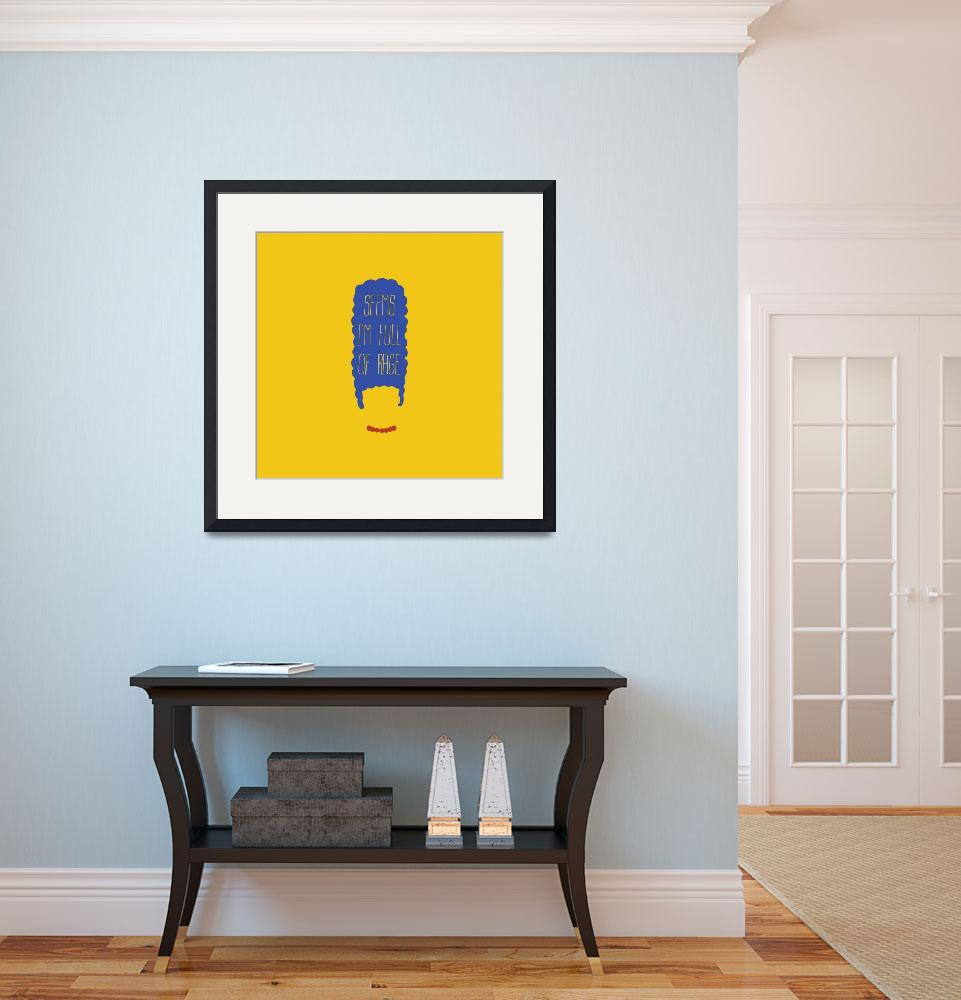 """""""The simpsons - Marge Simpson_pillow and clock""""  by Axel"""