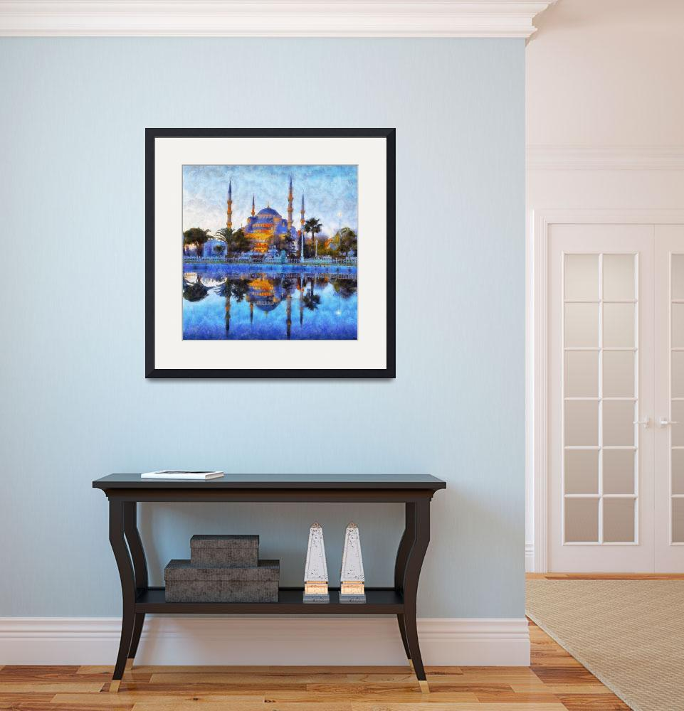 """""""Blue Mosque in Istanbul&quot  (2013) by Art_by_Lilia"""