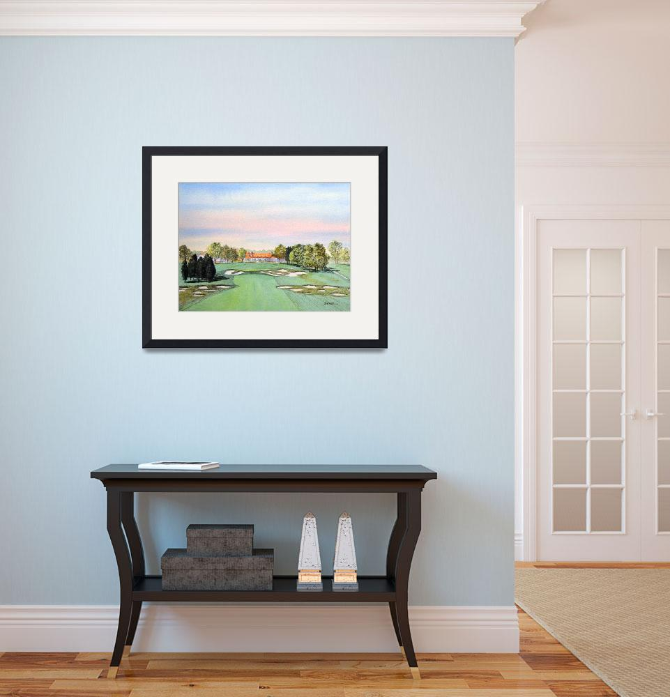 """Bethpage Golf Course 18th Hole Painting&quot  (2015) by billholkham"