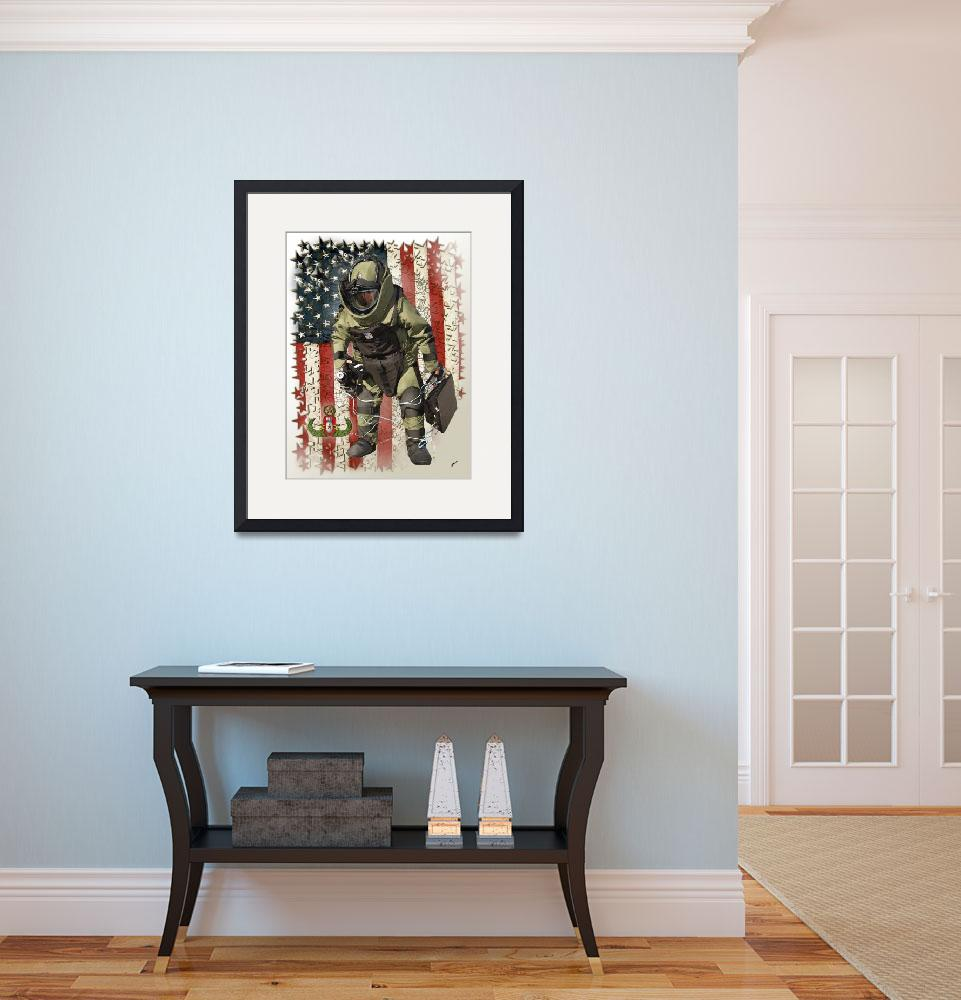 """""""EOD usflag Framed stars and USMapV&quot  by Columellaarts"""