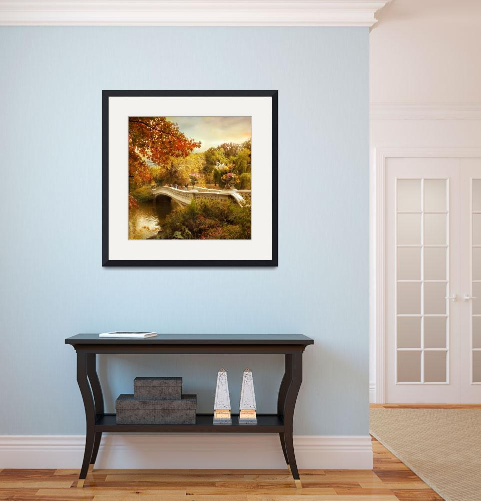 """""""Autumn comes to Bow Bridge""""  (2013) by JessicaJenney"""