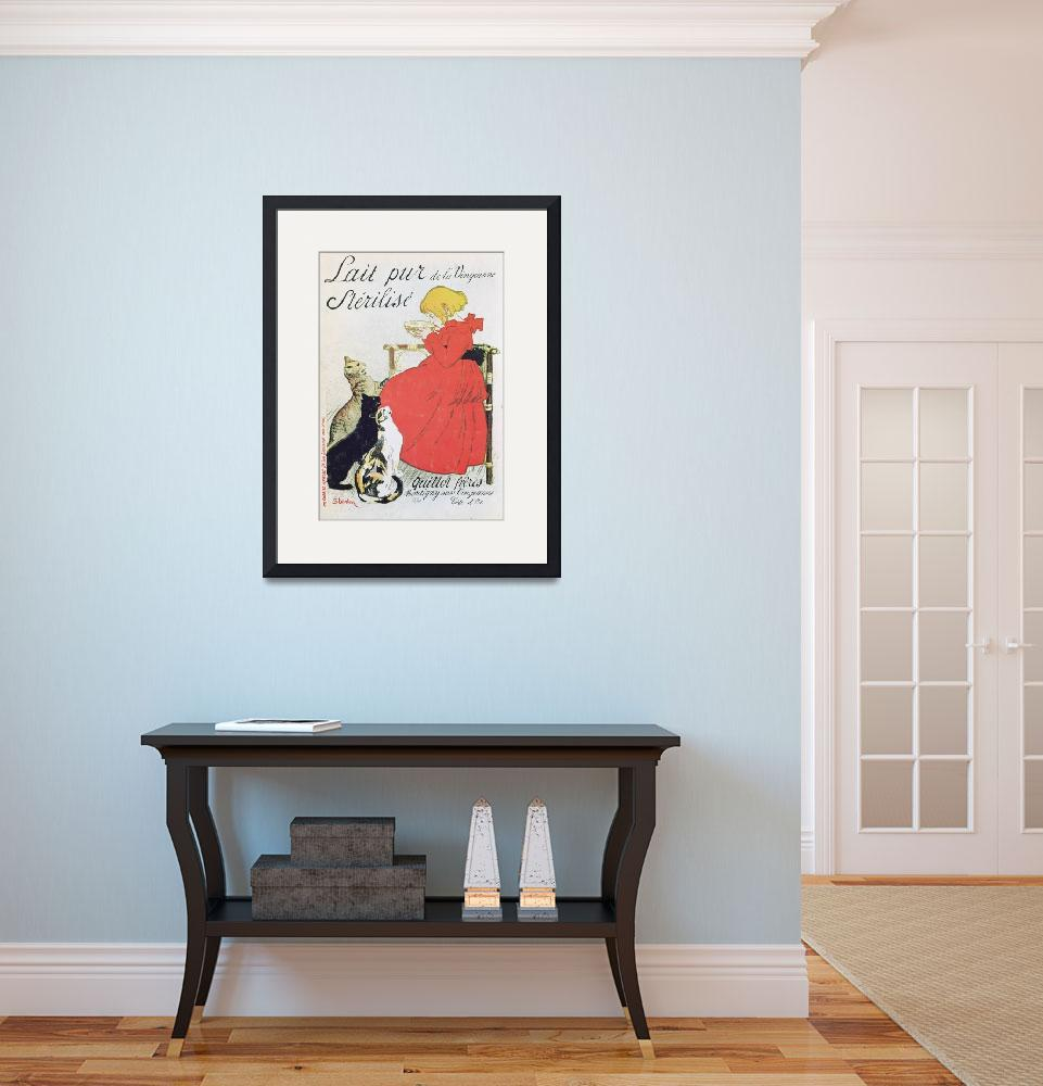 """""""Vintage French Poster advertising Milk&quot  by fineartmasters"""