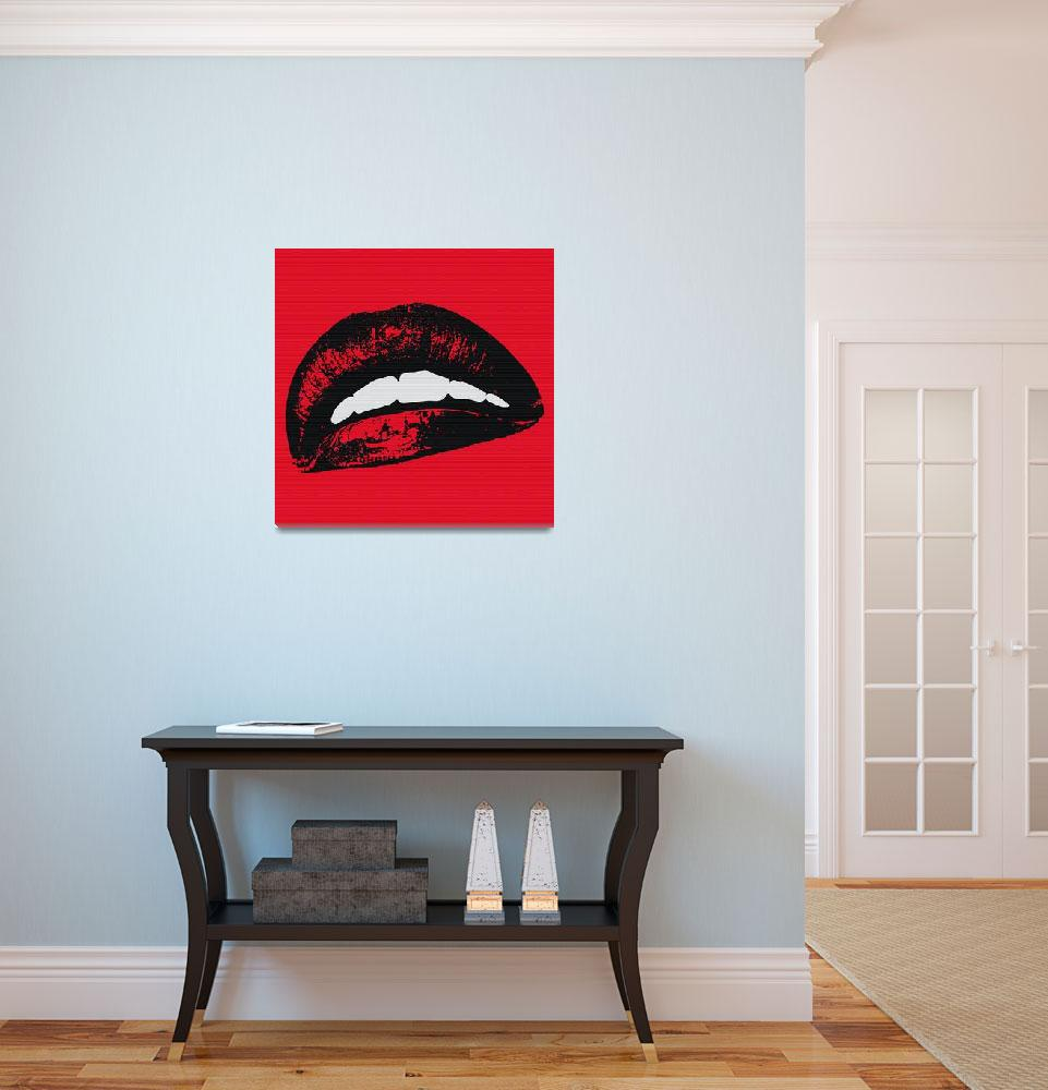 """""""Red Lips&quot  (2015) by e_morningstar"""