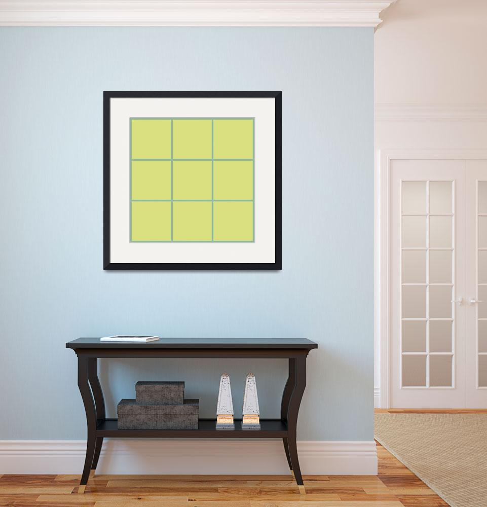 """Tan Window 115 Canvas Contemporary Modern&quot  (2010) by Ricardos"