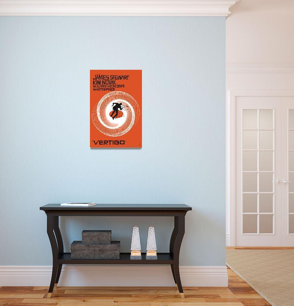 """Vertigo Movie Poster&quot  (1958) by jvorzimmer"