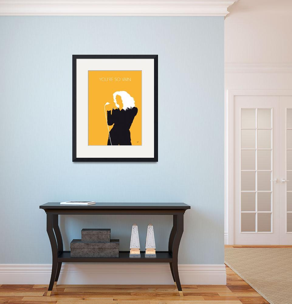 """No144 MY CARLY SIMON Minimal Music poster""  by Chungkong"