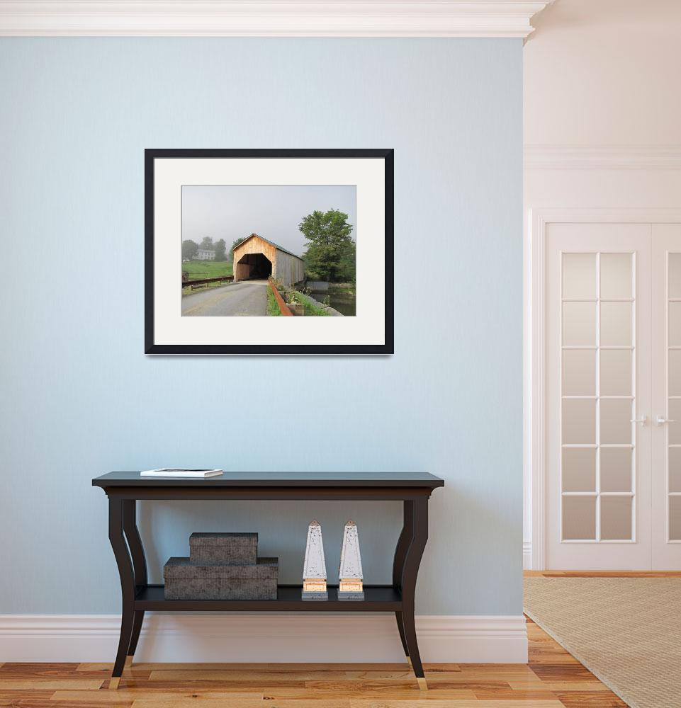 """Summer Morn at East Fairfield Covered Bridge&quot  (2011) by yankeeexpressions"