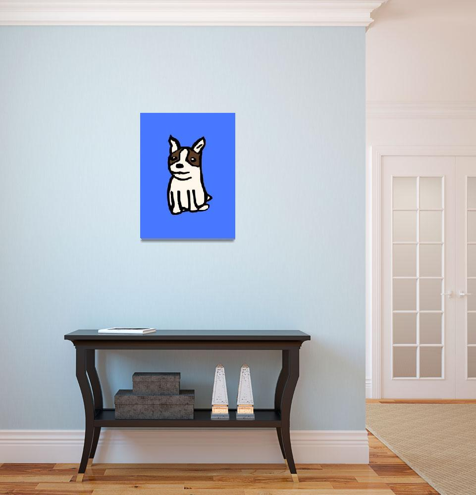 """Boston Terrier&quot  (2009) by parakeetart"
