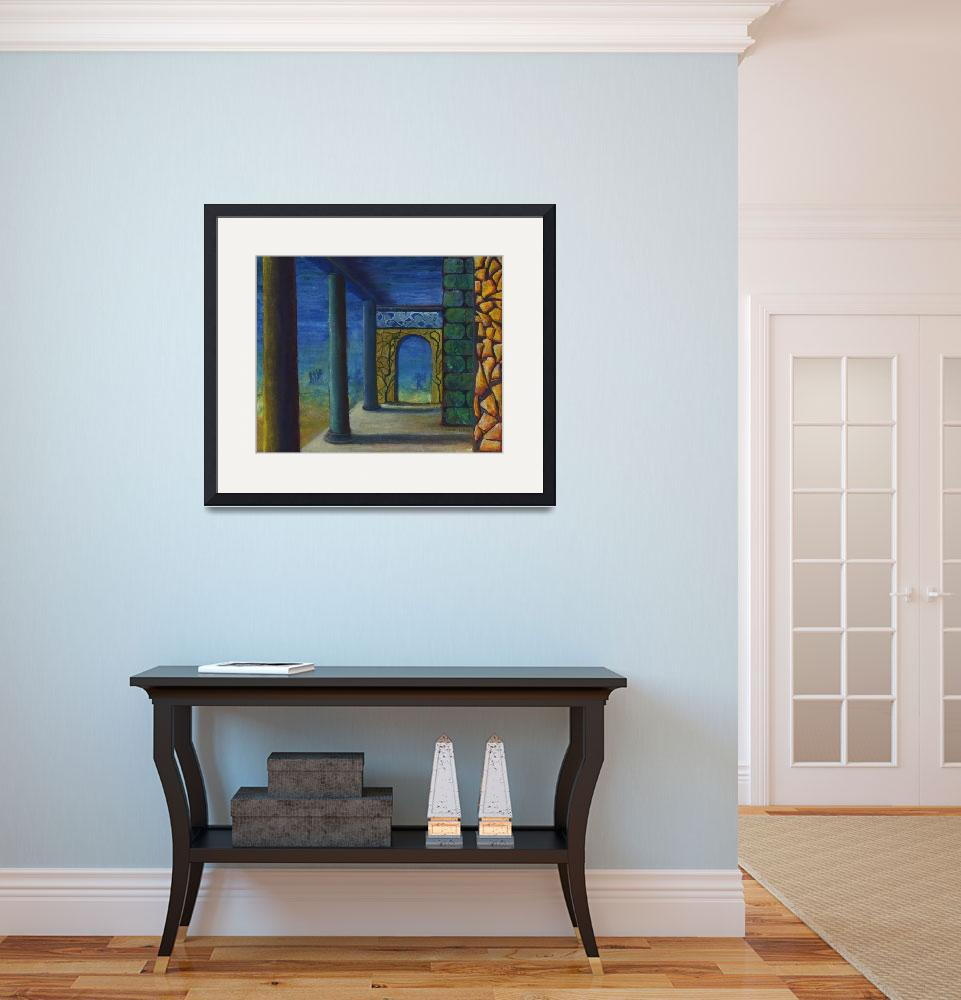 """""""Surrealistic Perspective with Columns and Walls&quot  (2007) by Lenora"""