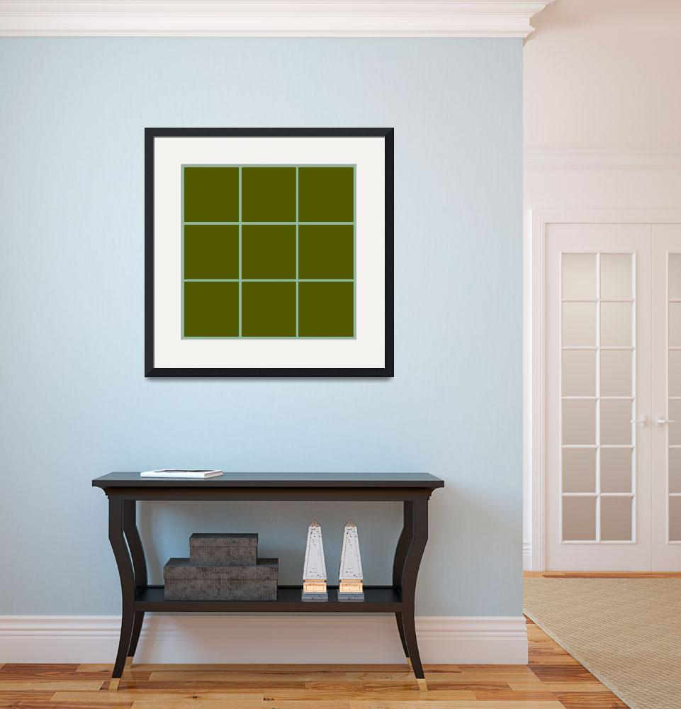 """Green Window 113 Canvas Contemporary Modern&quot  (2010) by Ricardos"