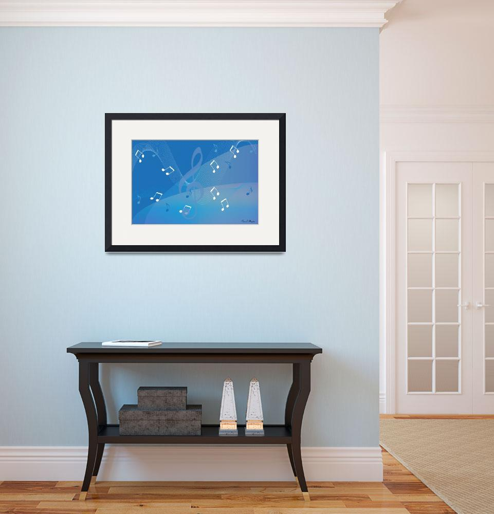 """I Hear Music - Blue&quot  (2008) by ProvencalDesigns"